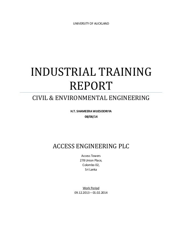 Industrial training full report