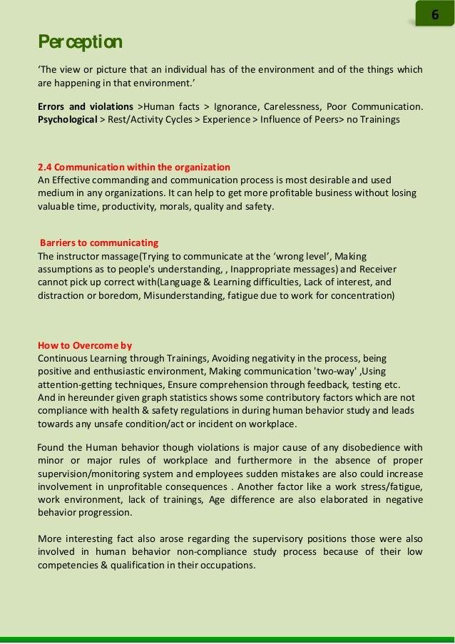 Statistics Report on Human Behavior Imrovement Process[1]