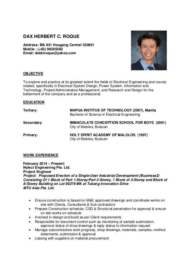 Resume Dax Roque C.