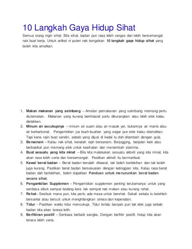 7 Amalan Hidup Sihat Yang Mudah Dilakukan