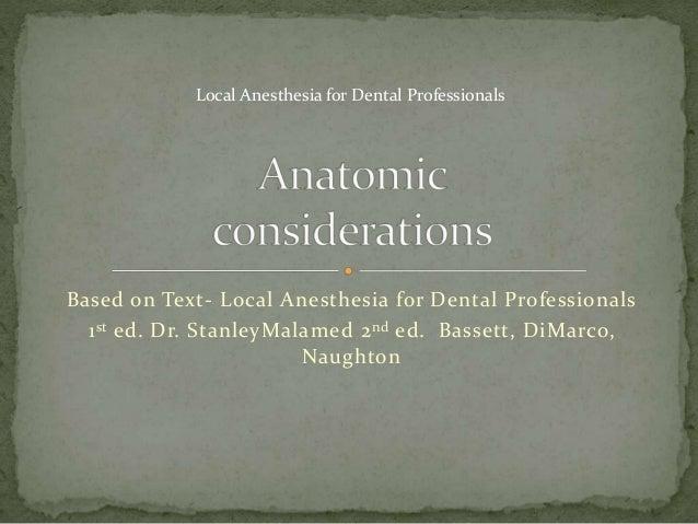 Local Anesthesia For Dental Professionals Anatomy Maxillary Inje