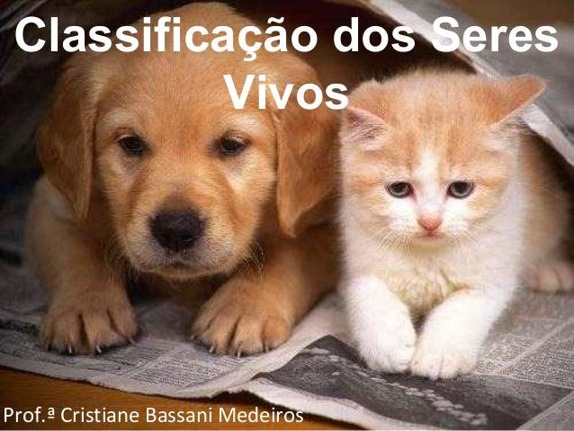 Classificação dos Seres Vivos Prof.ª Cristiane Bassani Medeiros