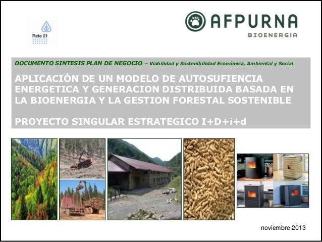 DOCUMENTO SINTESIS PLAN DE NEGOCIO – Viabilidad y Sostenibilidad Económica, Ambiental y Social  APLICACIÓN DE UN MODELO DE...