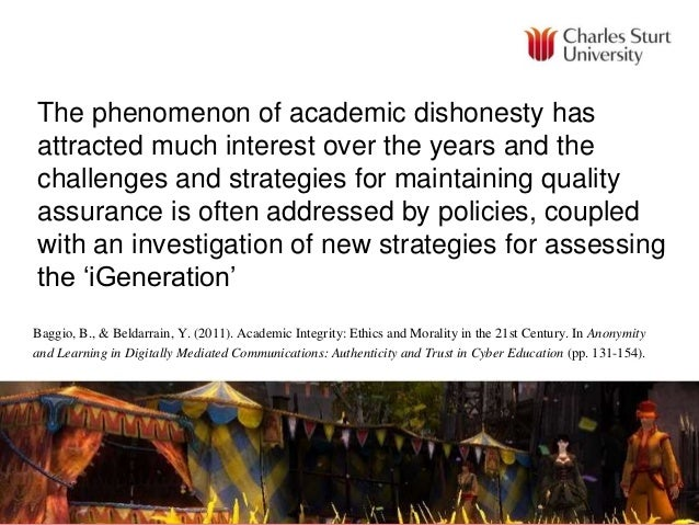 The phenomenon of academic dishonesty has attracted much interest over the years and the challenges and strategies for mai...