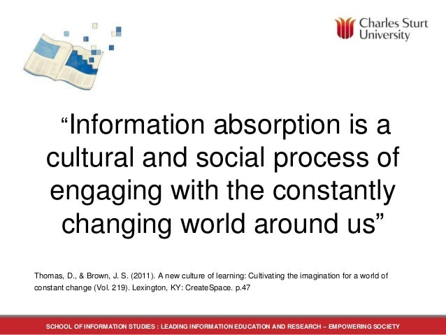 Thomas, D., & Brown, J. S. (2011). A new culture of learning: Cultivating the imagination for a world of constant change (...