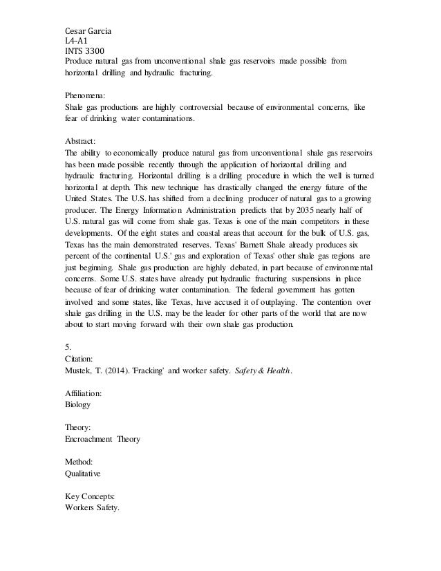 hydraulic fracturing an annotated bibliography These are the sources and citations used to research hydraulic fracturing this bibliography was generated on cite this for me on sunday, march 15, 2015 journal.