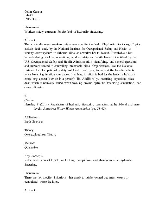 hydraulic fracturing an annotated bibliography D mixing fracturing fluids and cement on-the-fly  the results of this review  into this annotated bibliography the bibliography is intended to provide oil and.