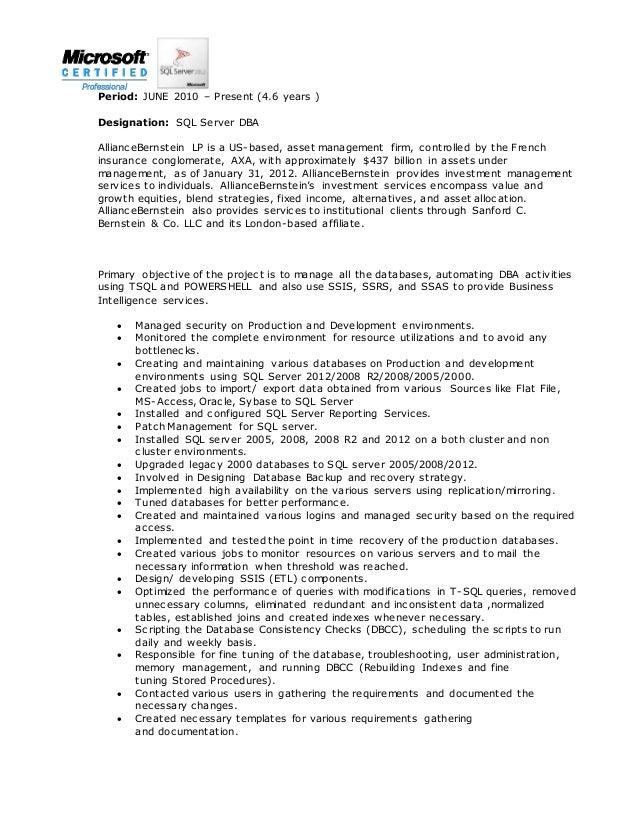 resume pradeep sql dba