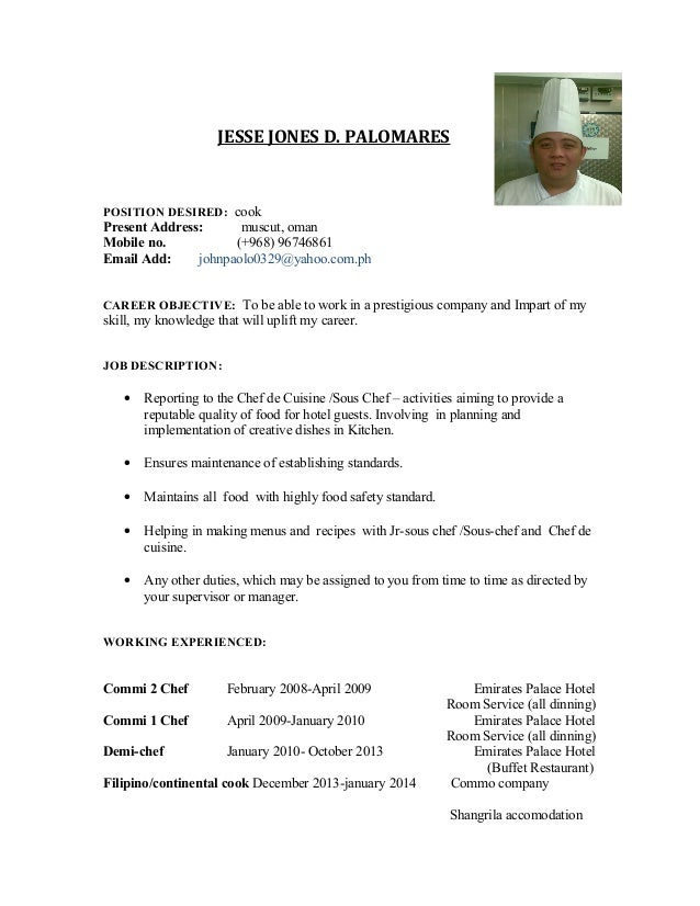 Resume Jesse Jones Palomares New