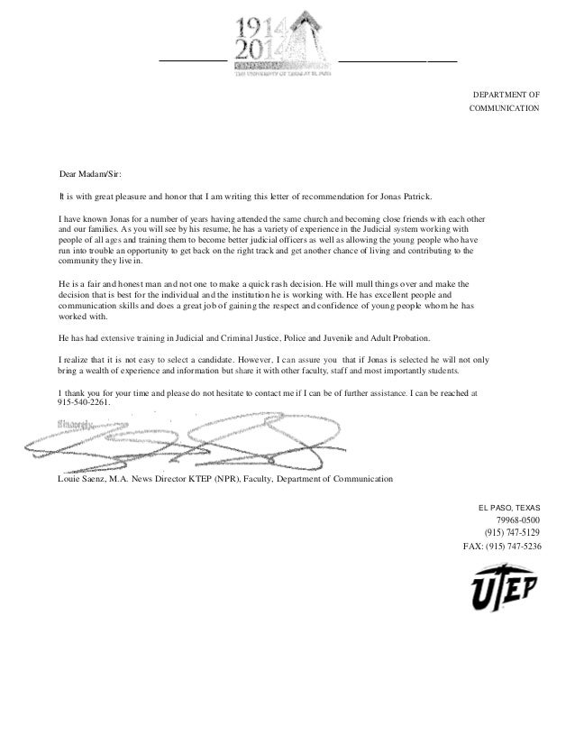 Probation letter of recommendation yeniscale probation letter of recommendation letters and recommendations spiritdancerdesigns Gallery