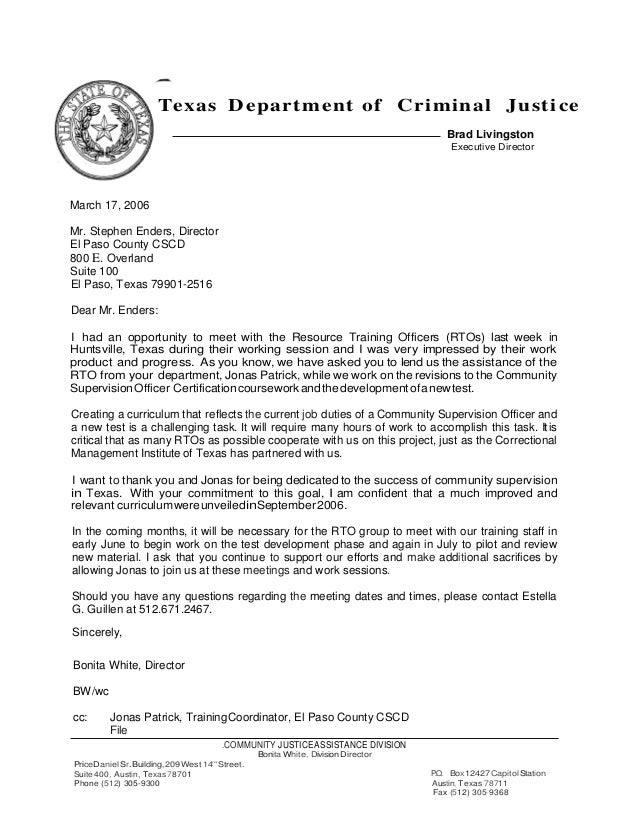 letter of recommendation for correctional officer - Koran.ayodhya.co