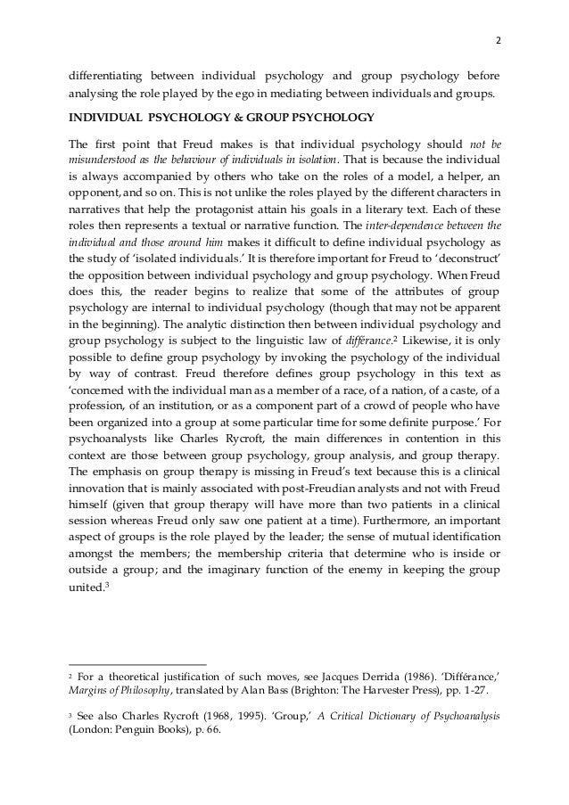 an analysis of the role of the self in psychology In personality processes self-esteem is considered to play an important role whether cognitive and motivational aspects result in vulnerability or resiliency trait level of self-esteem combined with different needs and strivings to maintain or increase self-esteem, is an important aspect to consider for a realistic understanding of mechanisms.