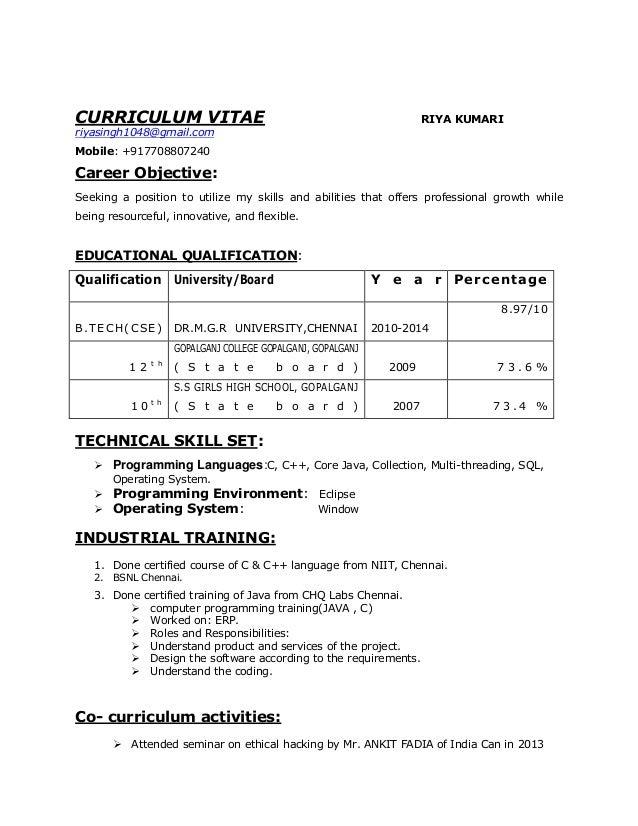 riya resume