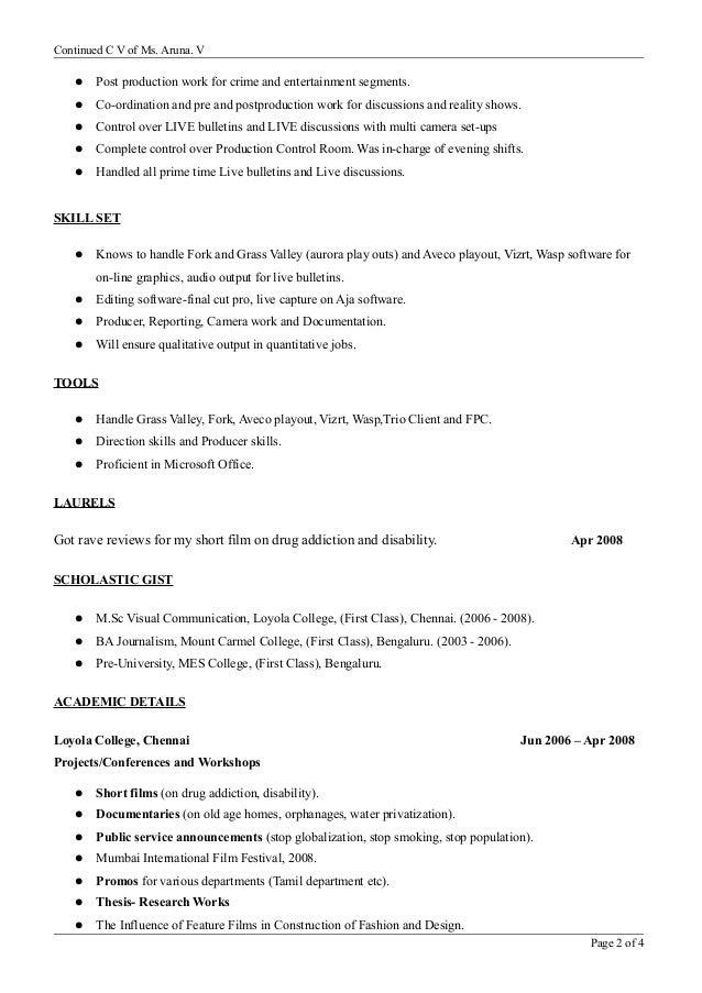 aruna resume
