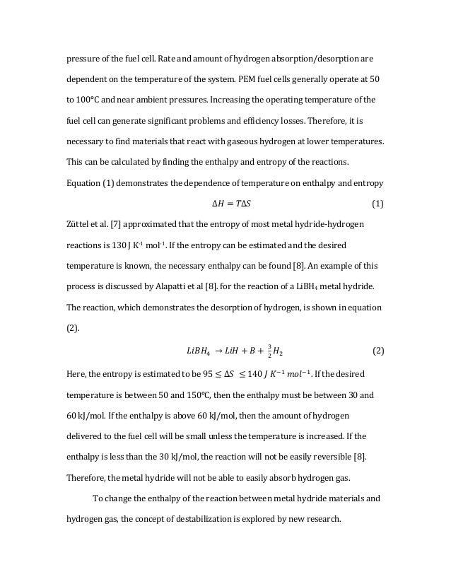 mechanics of metal hydrides for hydrogen storage 9 pressure