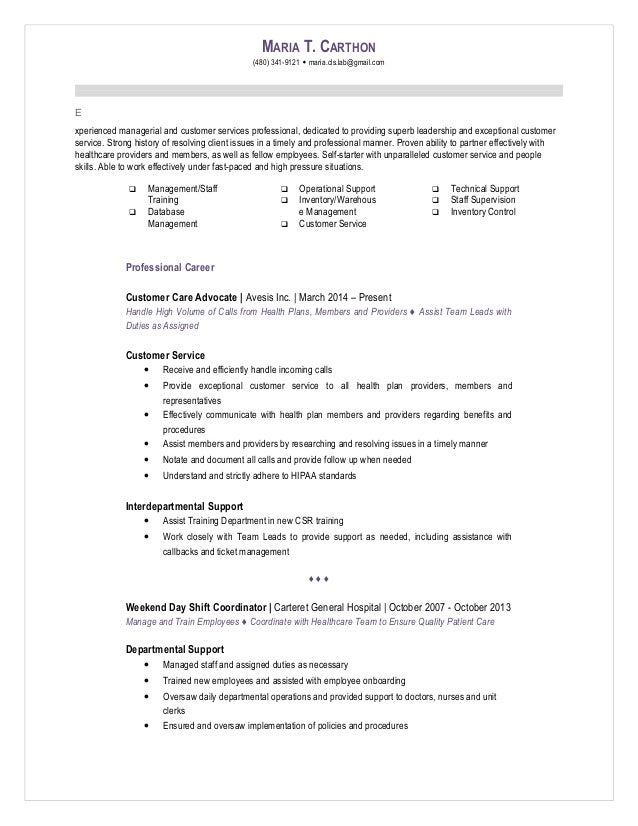 lead position resume