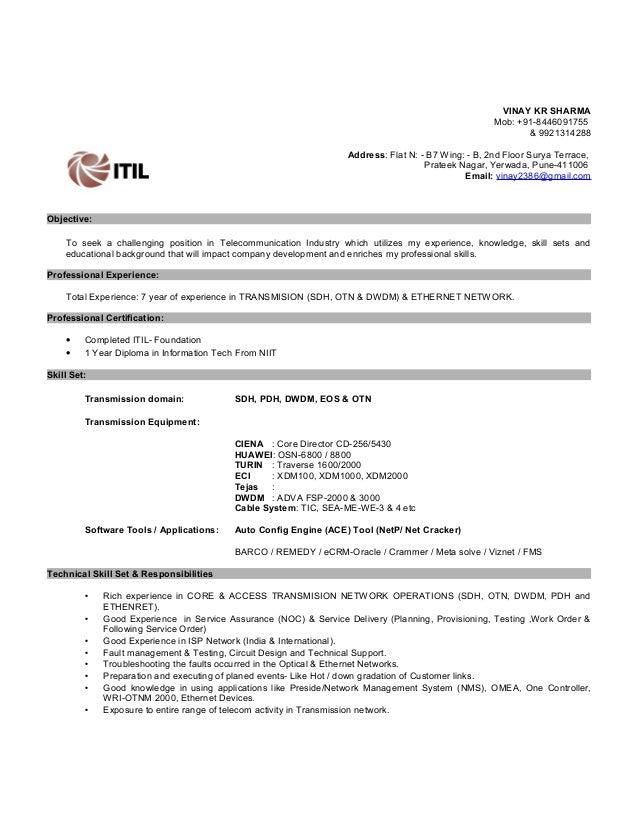 Vinay Cv Tech M Updated
