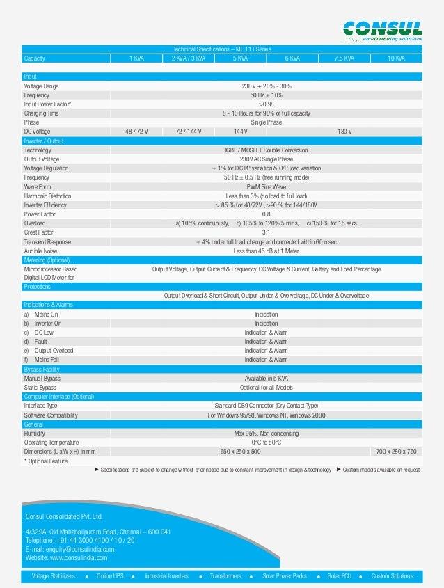 Online UPS (ML11T) VESTA