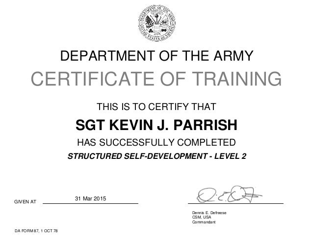 Structured Self Development Level 2