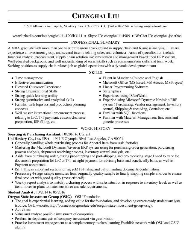 chenghai liu resume