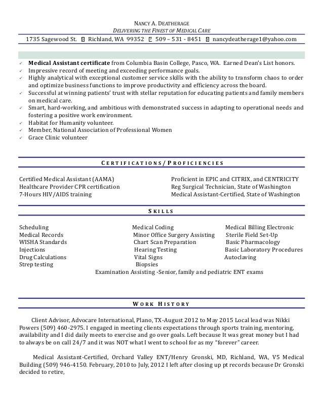 Deatherage, Nancy 10-13 ResumeMedicalnew