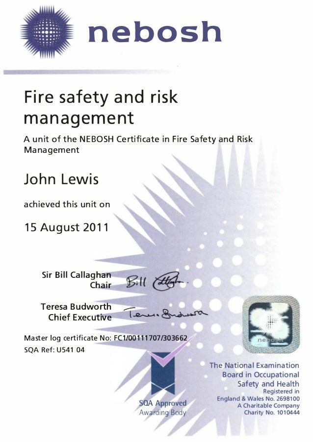 2011 08 Nebosh Fire Safety Risk Managementpdf