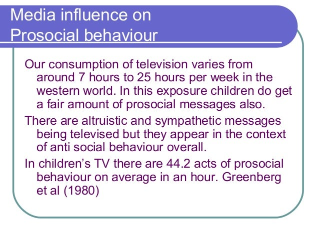 media influences on anti social behaviour essay Influence of social media on social behaviour of post graduate students a case study of salford wwwiosrjournalsorg 40 | page.