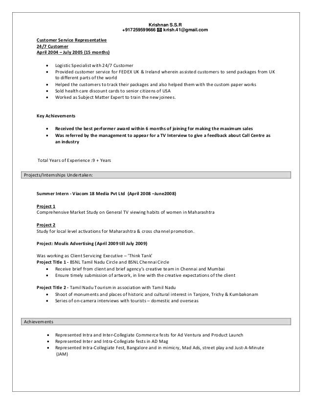 achievements in customer service for resume