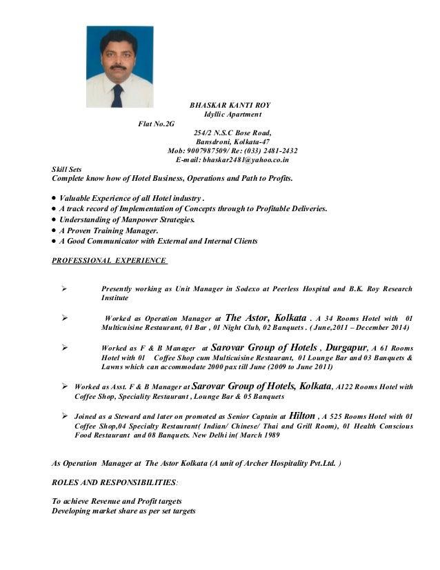 BHASKAR KANTI ROY Idyllic Apartment Flat No.2G 254/2 N.S.C Bose Road, Bansdroni, Kolkata-47 Mob: 9007987509/ Re: (033) 248...