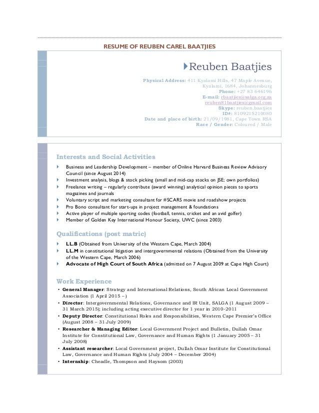 rc baatjies resume as at feb 2016