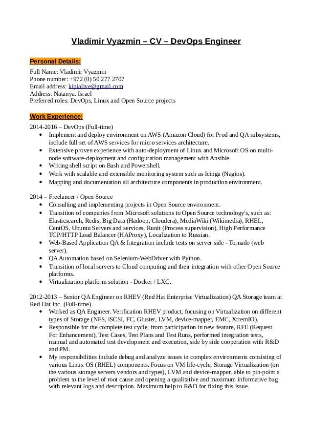 order a cover letter online sample customer resume builder - Devops Engineer Resume