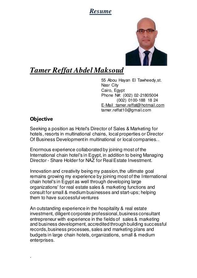tamer reffat abd el maksoud updated curriculum vitae