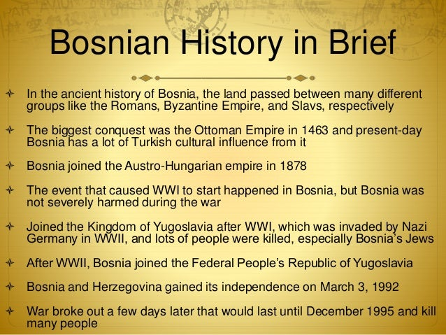 an overview of the war in bosnia between the serbian population Provides an overview of bosnia,  the war left bosnia's infrastructure and economy in tatters around two million people - about half the population.