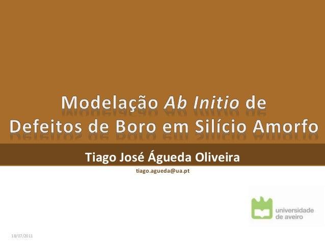 Tiago José Águeda Oliveira tiago.agueda@ua.pt 18/07/2011