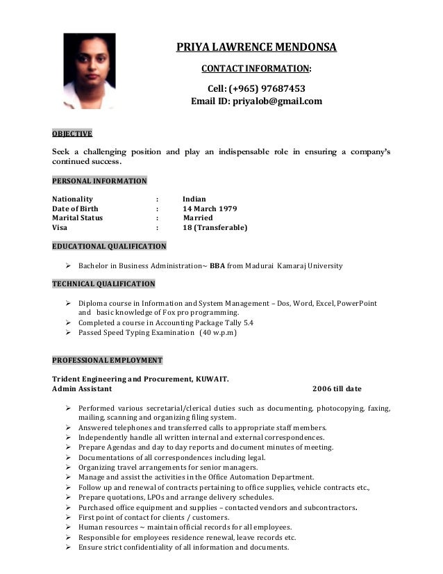 priya resume  3