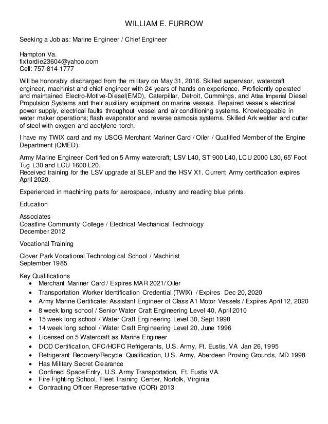 chief engineer resume - Akba.greenw.co