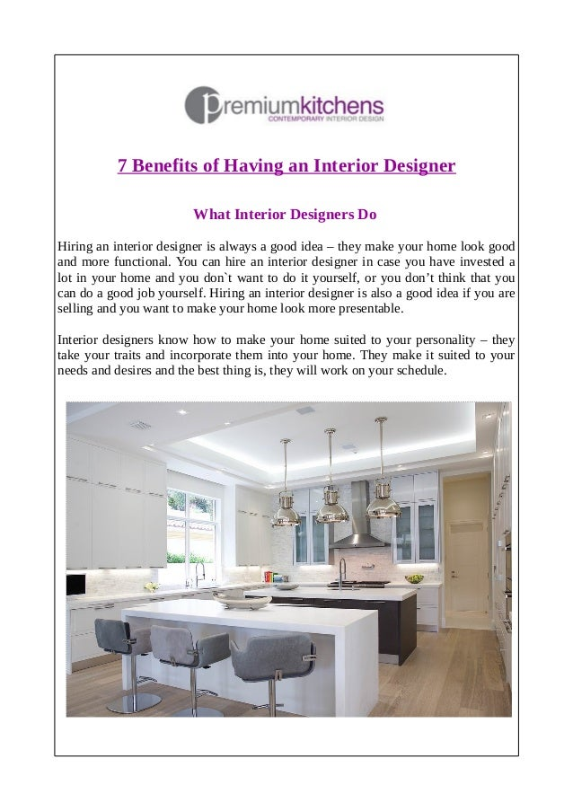 7 Benefits Of Having An Interior Designer