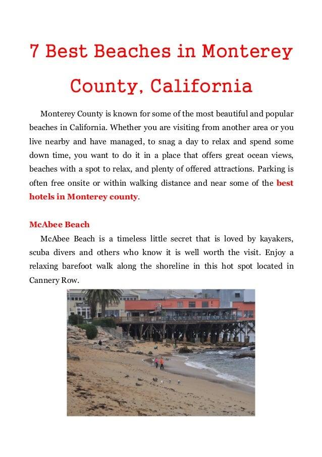 7 best beaches in monterey county california for Best beach in monterey ca