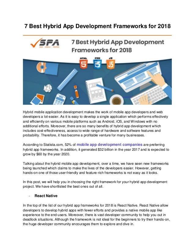 Best Css Framework 2020 7 best hybrid app development frameworks for 2018