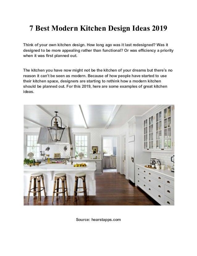 7 Best Modern Kitchen Design Ideas 2019