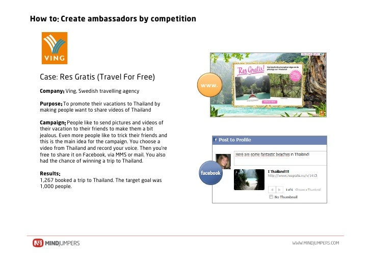 How to Create ambassadors by competition       Case Res Gratis (Travel For Free)                                          ...