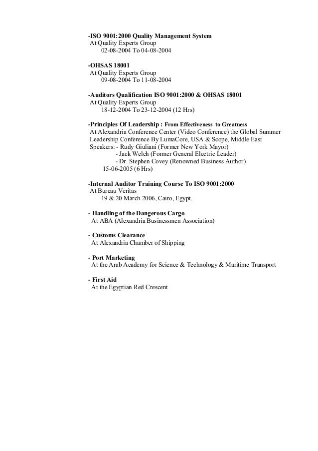freight forwarder resume sample