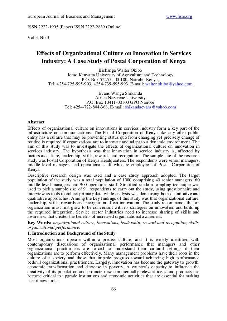 European Journal of Business and Management                                  www.iiste.orgISSN 2222-1905 (Paper) ISSN 2222...