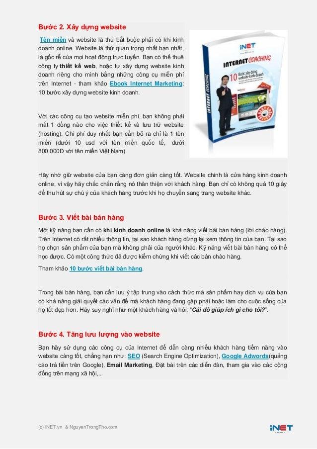 7 Bước kinh doanh Online thành công Slide 2