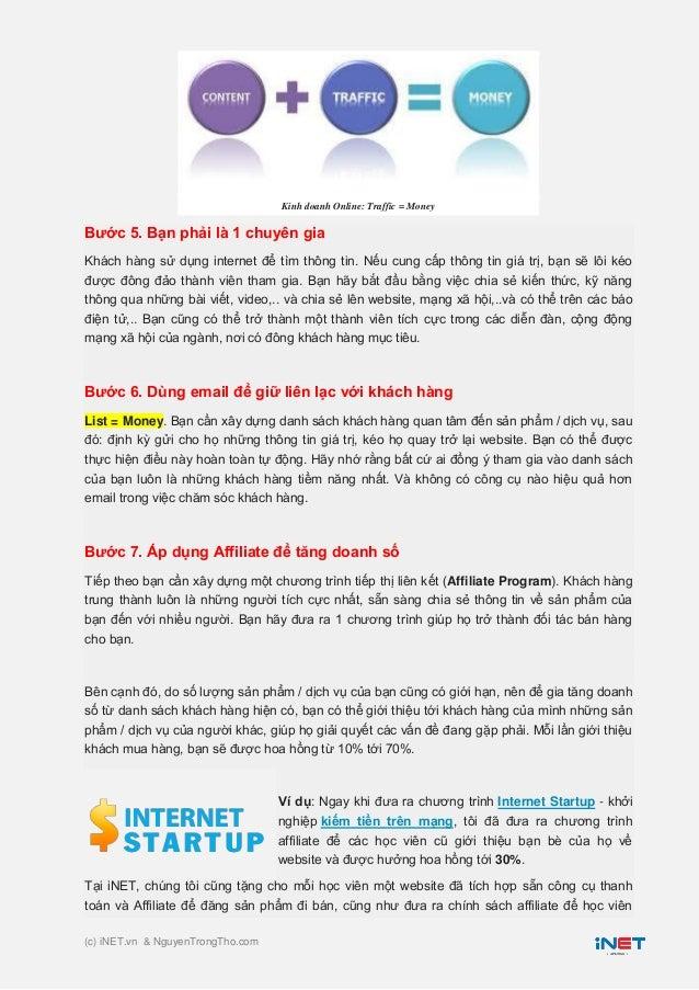 7 Bước kinh doanh Online thành công Slide 3