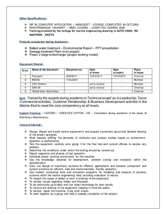 2 - Marine Engineer Sample Resume