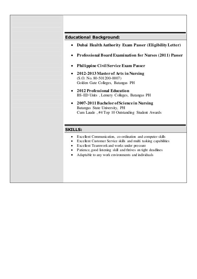 resume of joy orlina  1