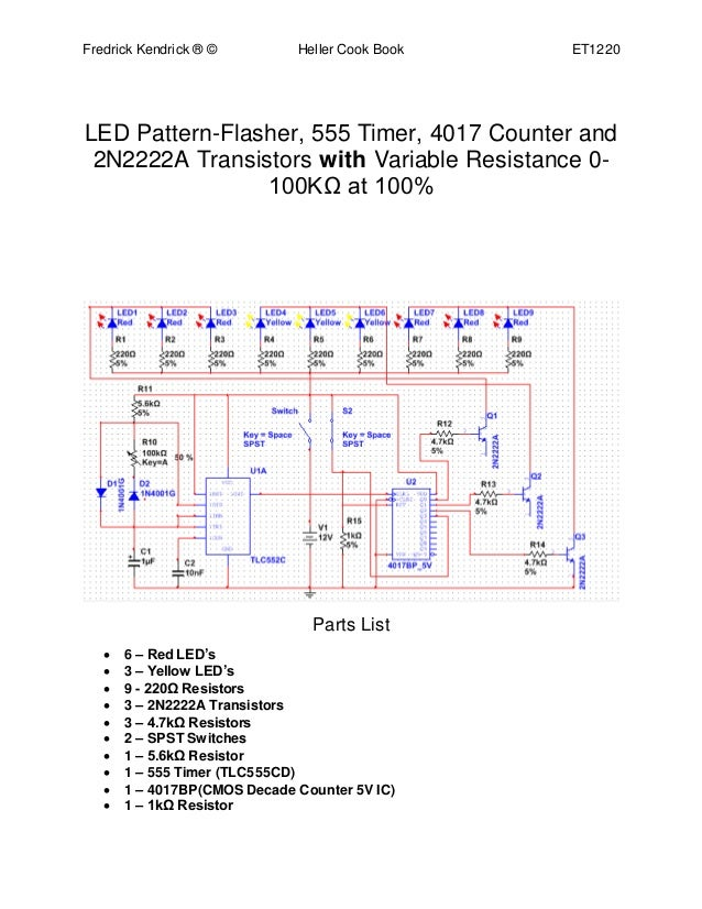 led pattern rh slideshare net Industrial Timer Circuits 555 Timer Multisim