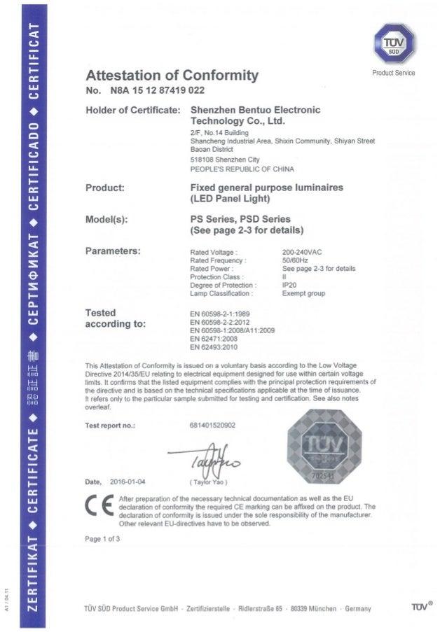 2ce Lvd Certificate