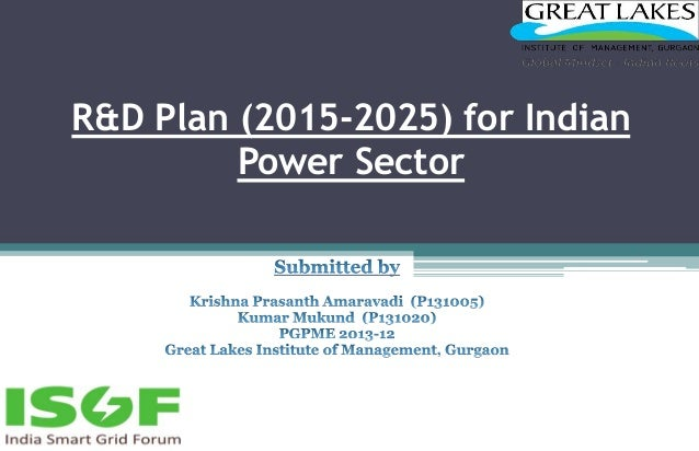 R&D Plan (2015-2025) for Indian Power Sector